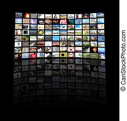 telewizja, poduszeczka