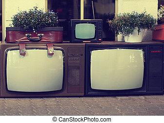telewizja, rocznik wina, komplet, stary, retro