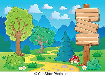 temat, 2, drzewo krajobraz