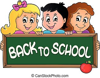 temat, 2, dzieci, dzierżawa, schoolboard