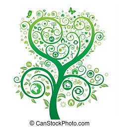temat, natura, środowisko, projektować