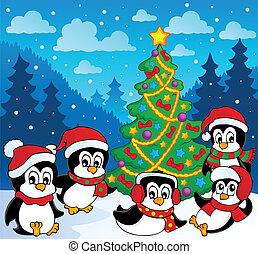 temat, pingwiny, zima, 3