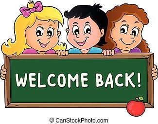 temat, schoolboard, 3, dzierżawa, dzieci