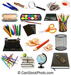 temat, wykształcenie, grupa, obiekty