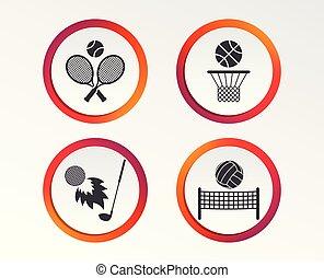 tenis, basket., koszykówka, ball., rakiety