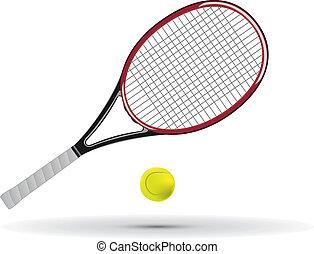 tenisowa piłka, rakieta