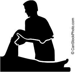 terapeuta, pacjent, fizyczny