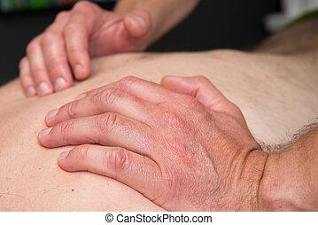 terapeuta, praca, masaż, lekkoatletyka