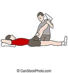 terapia, fizyczny