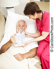 terapia, oddechowy, -, zdrowie, dom