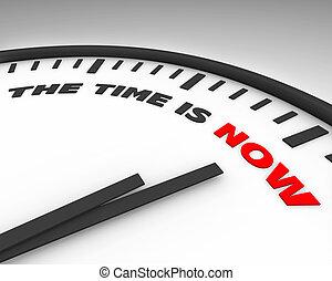 teraz, czas, -, zegar