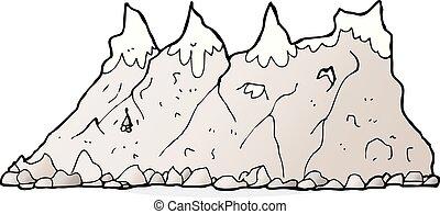 teren górzysty, rysunek