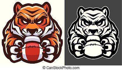 tiger, amerykańska piłka nożna, maskotka