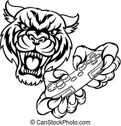 tiger, bardziej gemowy, maskotka