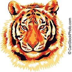 tiger, czerwony