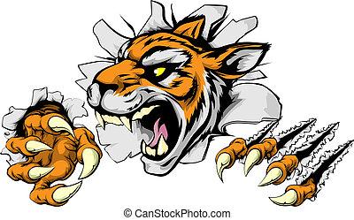 tiger, gniewny, lekkoatletyka, maskotka
