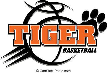tiger, koszykówka, projektować