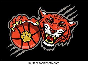 tiger, koszykówka