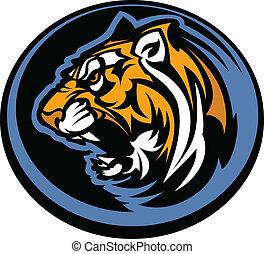 tiger, maskotka, graficzny