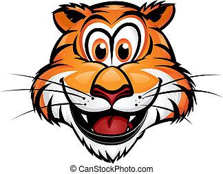 tiger, maskotka, sprytny