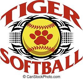tiger, softball