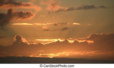 timelapsed, wschód słońca