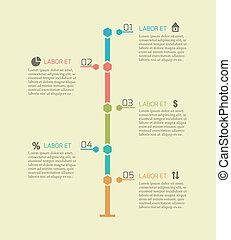 timeline, infographic, wykres, elementy