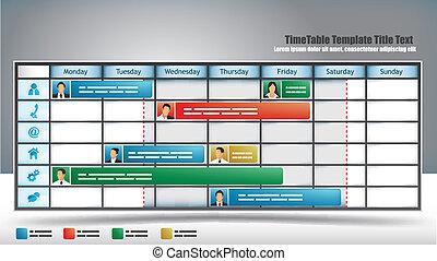 timetable, handlowy