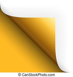 tokarski, dół, na, żółty, papier, /, strona, lewa strona