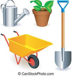tools., ogród