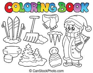 topic, 3, koloryt książka, zima