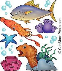 topic, fauna, 2, ocean, komplet
