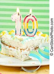 tortowa kromka, dziesiąty, urodziny