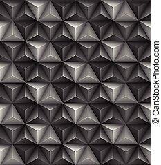 trójkąt, abstrakcyjny, seamless, ilustracja, wektor, geometryczny, texture., 3d