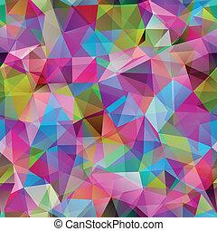 trójkąt, barwny, banner., próbka, shapes., seamless, geometryczny, mozaika