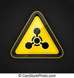 trójkąt, broń, metal, ślepy traf znak, chemiczny, ostrzeżenie, powierzchnia