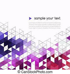 trójkąt, kolor, abstrakcyjny, modeluje, tło, technologia