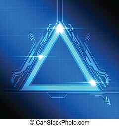 trójkąt, ułożyć, nowoczesny, projektować