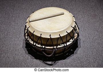 tradycyjny, koreański, 'buk', bęben, nazwany