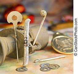 tradycyjny, koreański, instrument