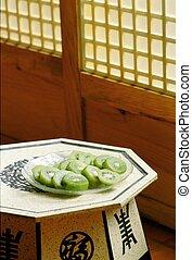 tradycyjny, kultura, koreański