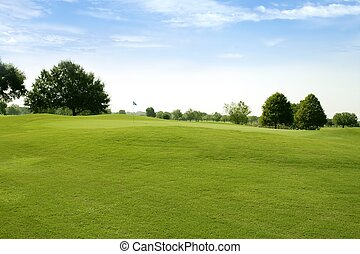 trawa, golf, pola, zielony, beautigul, sport