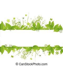 trawa, zielony, liście