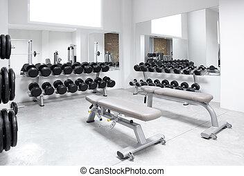 trening, ciężar, klub, sala gimnastyczne zaopatrzenie, stosowność