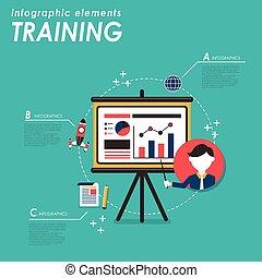 trening, pojęcie, handlowy