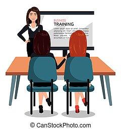 trening, projektować, handlowy