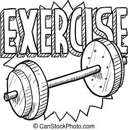 trening, rys, ciężar