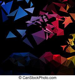 triangle, styl, abstrakcyjny, tło, trójkątny
