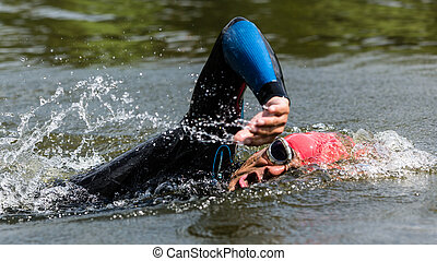 triathlete, pływacki