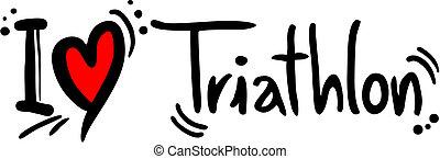 triathlon, miłość
